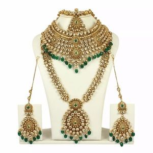 INDIAN BOLLYWOOD STYLE GOLD PLATED WEDDING JEWELRY